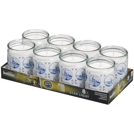 Bolsius Professional Starlight Moods Marineblau, 8er Tray