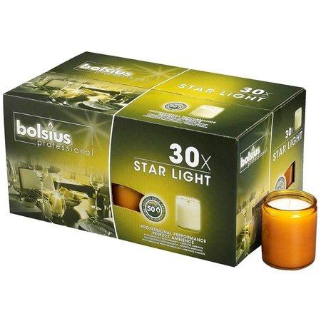 Bolsius Professional Star Light Amber, doos 30