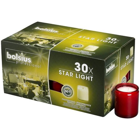 Bolsius Professional Star Light Rood, doos 30