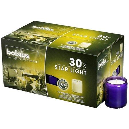 Bolsius Professional Star Light Paars, doos 30