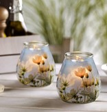 Bolsius Professional Twilight Blumen, 6 Stück