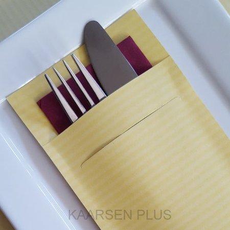 """EUROPOCHETTE® Bestecktaschen """"Kraft"""" Gelb, 600 Stück"""