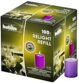 Bolsius Professional Refills ReLight Violett (100 stück)