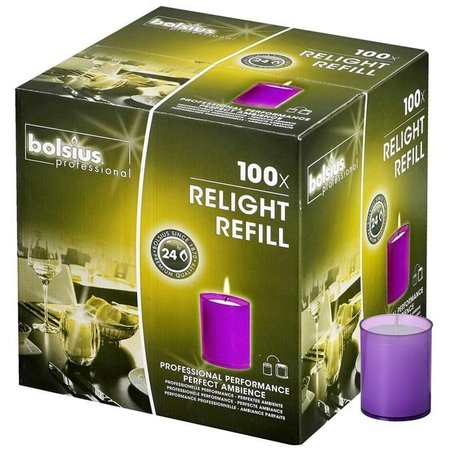 Bolsius Professional Refills ReLight Paars (100 stuks)