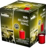 Bolsius Professional Refills ReLight Rot (100 stück)