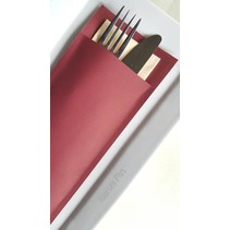 Bestecktaschen Ruby Ivory, 600 Stück