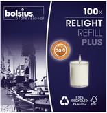 Bolsius Professional Refill Relight Transparant 30 uur, 100 stuks