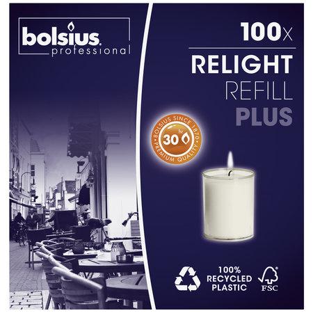 Bolsius Professional Refill Relight Transparent 30 Stunden, 100 Stück
