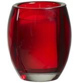 Bolsius Professional Refillhouder Oval Red 4 Stuks