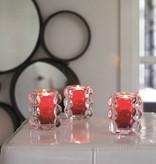 Bolsius Professional Relight Refill Halter Bubble Rot, 6 Stück