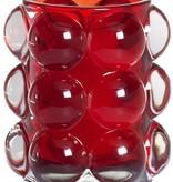 Bolsius Professional Refillhouder Bubble Rood, 6 stuks