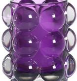 Bolsius Professional Refillhouder Bubble Paars, 6 stuks