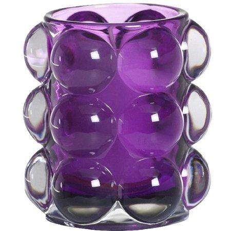 Bolsius Professional Relight Refill Halter Bubble Violett, 6 Stück