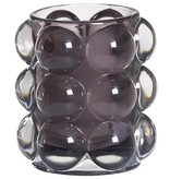Bolsius Professional Refillhouder Bubble Antraciet, 6 stuks