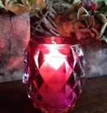 Bolsius Professional Refillhouder Diamond Cherry,  4 stuks