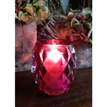 Bolsius Professional Relight Refill Halter Diamond Cherry, 4 Stück