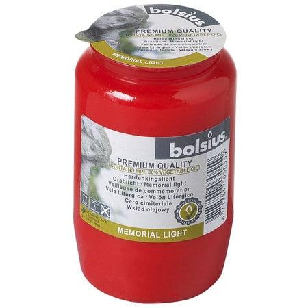 Bolsius Grablichter Grabkerzen Dauerbrenner Nr. 3 Rot