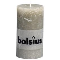Rustik Stumpen Kerzen 130x68 mm Kieselgrau, 6 Stück