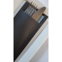 Bestecktaschen Carbon Grey, 600 Stück