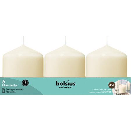 Bolsius Professional Stumpenkerzen100/98 Elfenbein, 6 Stück