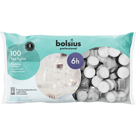 Bolsius Professional Teelichte 6 Stunden, 600 Stück