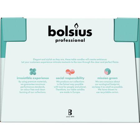 Bolsius Professional Dinerkerzen Elfenbein, 136er Box