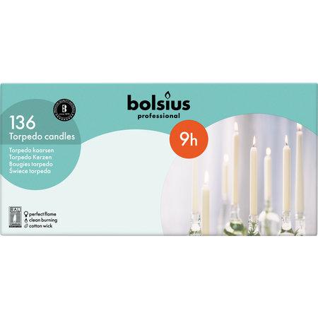 Bolsius Professional Dinerkaars Wit, 136 stuks