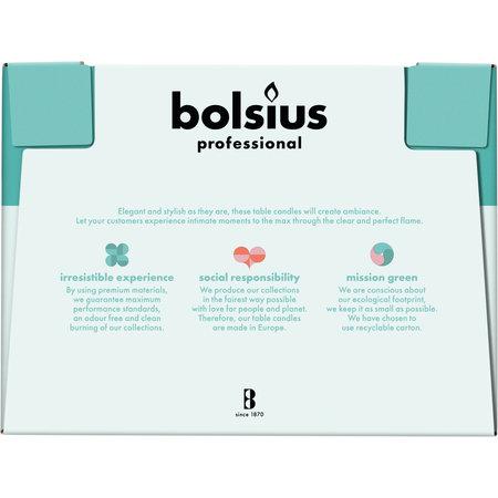 Bolsius Professional Dinerkerzen Weiß, 136er Box