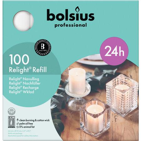Bolsius Professional Refill ReLight Wit (100 stuks)