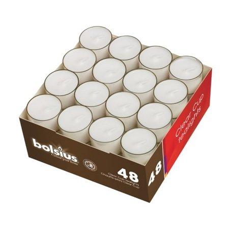 Bolsius Teelichte im Clear Cup 8 Stunden, 288 Stück