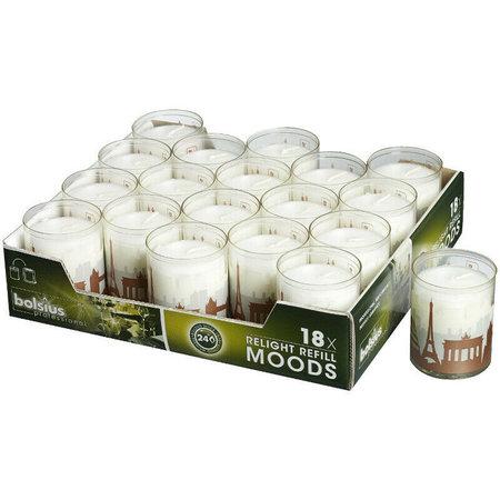 Bolsius Professional Relight Refills Moods World 72 Stück