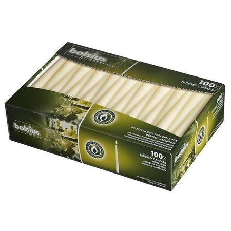 Bolsius Professional Spitzkerzen Elfenbein, 100 Stück