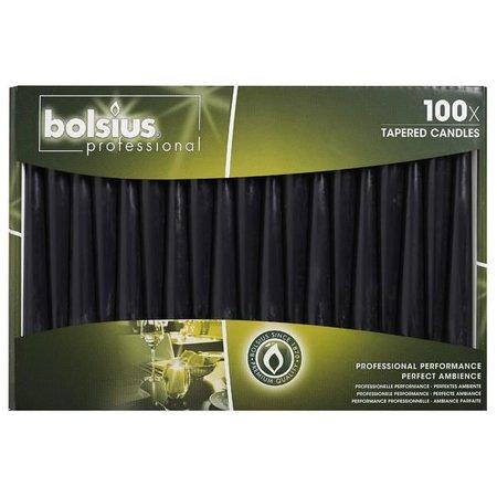 Bolsius Professional Spitzkerzen schwarz 100 Stück
