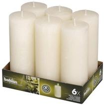 Rustik Stumpen Kerzen 190x68 mm Elfenbein, 6 Stück