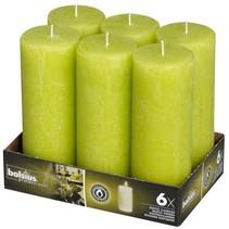 Rustik Stumpen Kerzen 190x68 mm Lemon, 6 Stück
