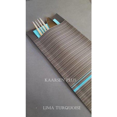 """EUROPOCHETTE® Bestecktaschen """"Lima"""" Türkis, 600 Stück"""