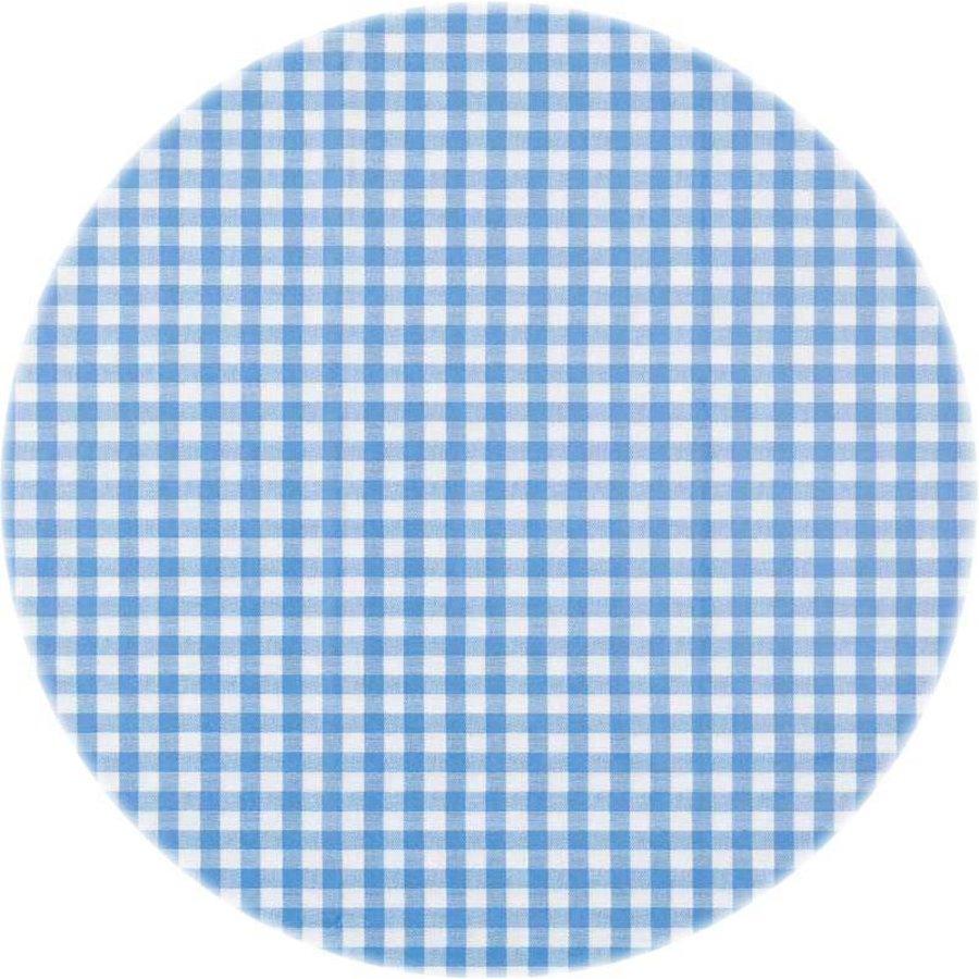 Europees Eco tafelzeil ruitje blauw rond 140 cm