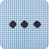 MixMamas Europees Eco tafelzeil ruitje blauw 2,5M