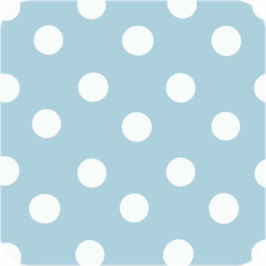 Europees Eco tafelzeil lichtblauw-wit grote stip 2M