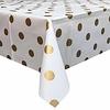 MixMamas Europees Eco tafelzeil Wit met gouden stippen 2,5M