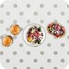 MixMamas Europees Eco tafelzeil wit met zilveren stip 2,5M