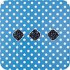 MixMamas Europees Eco tafelzeil blauw-wit grote stip 3M