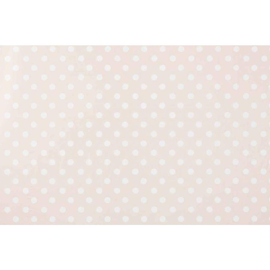 Europees Eco tafelzeil Rol 20m beigewit grote stip 140 cm