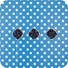MixMamas Europees Eco tafelzeil Rol 20m blauw-wit grote stip 140 cm