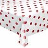 MixMamas Europees Eco tafelzeil Rol 20m Wit met rode stippen 140 cm