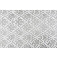 Europees Eco tafelzeil barok zilver 2,5M