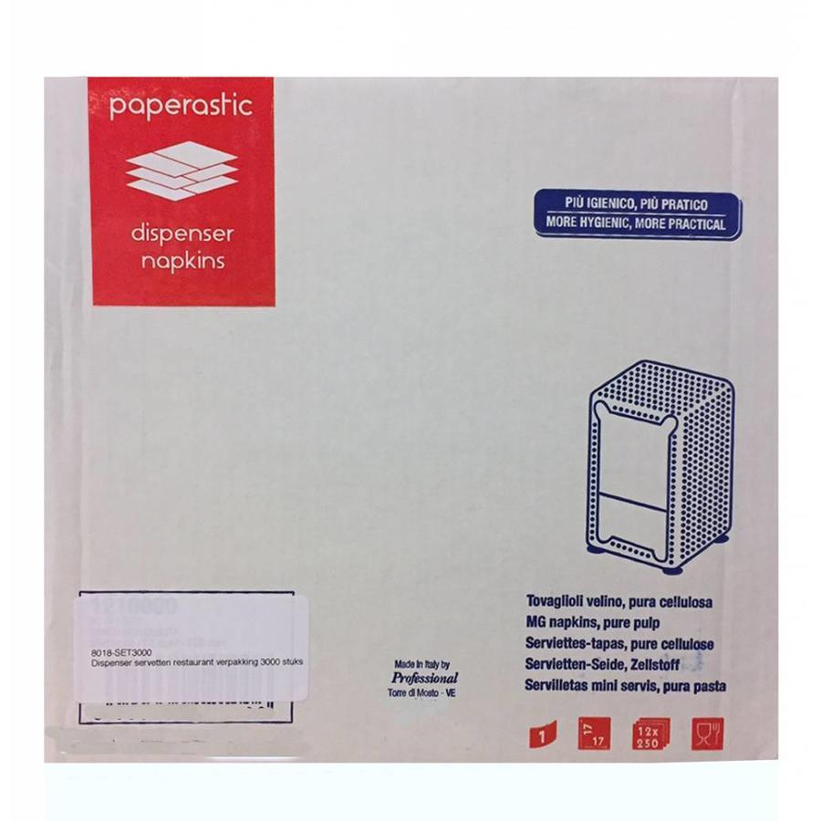 Dispenser servetten restaurant verpakking 3000 stuks!!