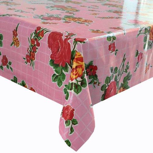 Tafelzeil op rol Rosedal roze