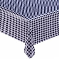 Mexicaans tafelzeil op rol 11m Ruit marineblauw