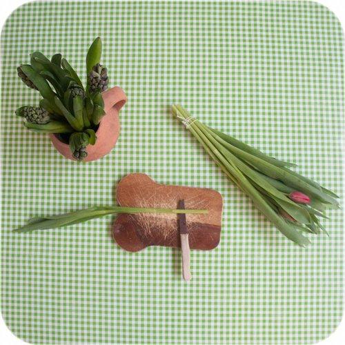 Tafelzeil op rol Ruit limoen groen